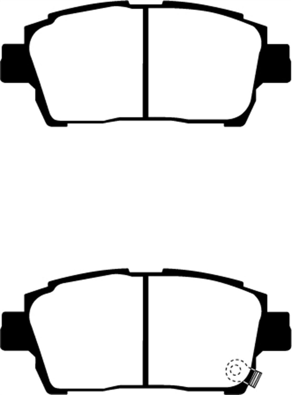 EBC Brakes DP21459 Greenstuff 2000 Series Sport Brake Pad