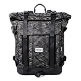 Water Resistant Camouflage Backpack Outdoor Hiking Travel Climbing Camping Mountaineering Daypack (Cafe)