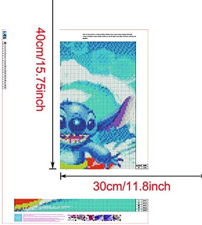 1 Stitch 12X16 inches 5D Diamond Painting kit Complete Diamond Embroidery Painting DIY Embroidery Cross Stitch Used for Home Wall Decoration