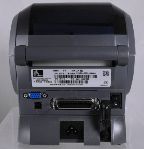 (Zebra ZP 450 ZP450-0201-0000A Direct Thermal Barcode Label Printer Network USB Peeler)