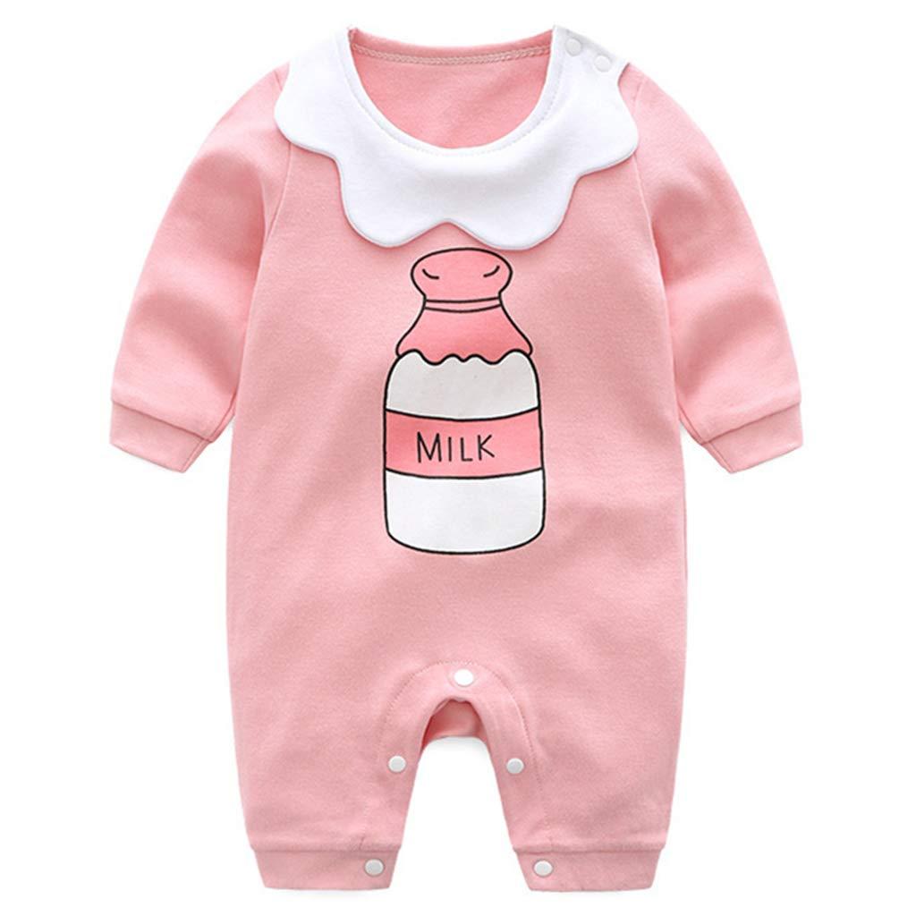 Minizone Bambina Pagliaccetti del bambino Ragazzi Onesies cotone Tuta a maniche lunghe tuta pigiama,