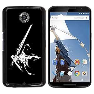 YiPhone /// Prima de resorte delgada de la cubierta del caso de Shell Armor - Sci Fi Sword - Motorola NEXUS 6 / X / Moto X Pro