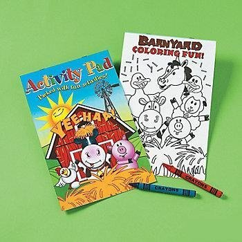(Farm Animals Activity Pad With 2pk Crayon (1 Dozen) - Bulk )