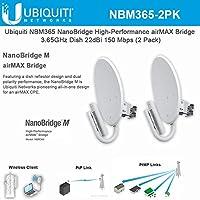 Ubiquiti NanoBridge M365 NBM365 airMAX 3.65GHz CPE Dish 22dBi 150+Mbps (2 Pack)