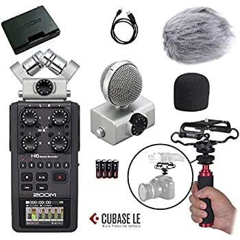 Amazon com: Zoom H6 Six-Track Portable Recorder: Musical