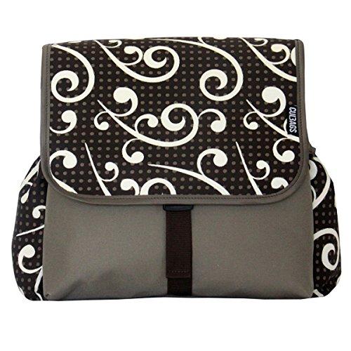 C-BAGS BETSIE double ESCANDA Gepäckträger 2-er Set Tasche verschiedene Muster beige-brown