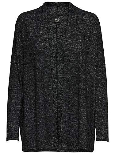 Cardigan Grey Melange Gris Black Long Dark Detail Femme S Onlmaye w Melange Only CC Gilet L KNT 1qAwg