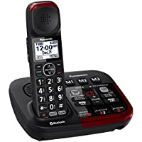 Panasonic KX-TGM430B Link2Cell Bluetooth Amplified Cordless Phone with Answering Machine, 1 Handset , Black