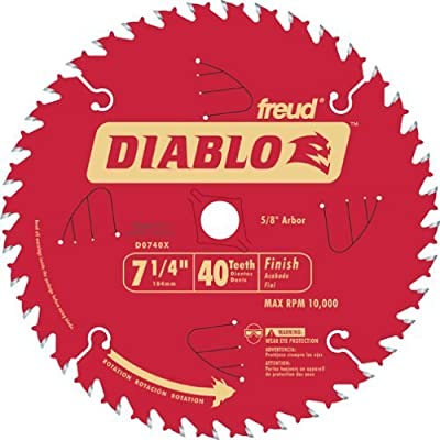 Freud D0740X Diablo 7-1/4-inch 40T ATB Finish/Plywood Thin Kerf Saw Blades