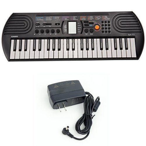 Casio SA77 44 Keys 100 Tones Keyboard bundle with Casio Power Supply