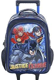 Mochila com Rodas, Liga da Justiça, Edição Super Heróis, 7621, Azul Escura