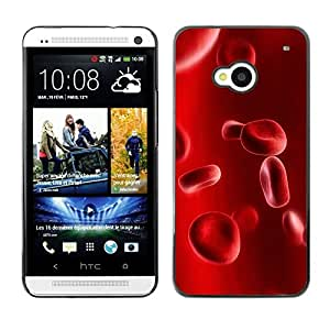 Design for Girls Plastic Cover Case FOR HTC One M7 Blood Cells Anatomy Human Enlarged Red OBBA