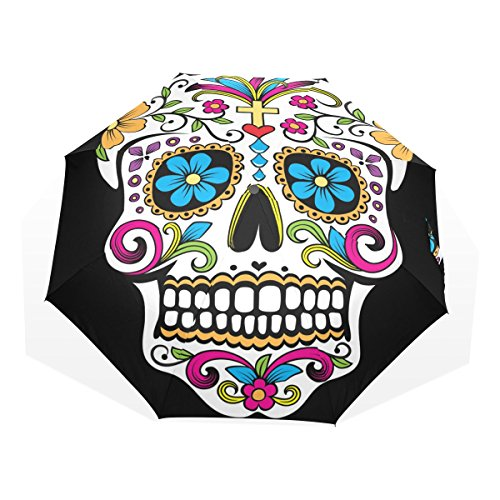 LEISISI Sugar Skull Personalized Fashion Umbrella