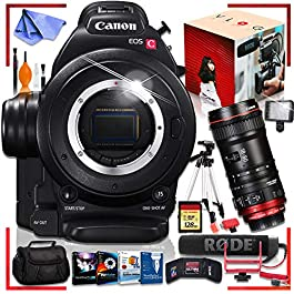Canon C100 Cinema EOS Camera with CN-E 18-80mm T4.4 Compact-SERVO Cinema Zoom Lens Ultimate Vlogging Bundle