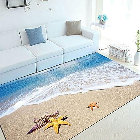 Amazon De Wxdd Mediterranen Stil 3d Teppich Wohnzimmer Sofa Kaffee