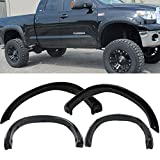 08 tundra fender flare - Fender Flares Fits 2007-2013 Toyota Tundra | TRD Style Black ABS Front Rear Right Left Wheel Cover Protector Vent Trim by IKON MOTORSPORTS | 2008 2009 2010 2011 2012