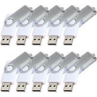 FEBNISCTE 10 Pack White 8gb USB2.0 Flash Drive