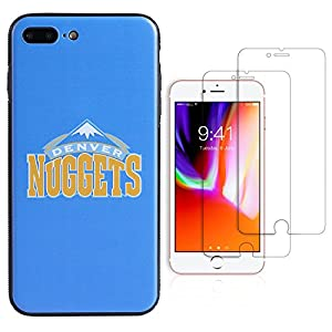 "Sportula NBA Phone Case give 2 Tempered Glass Screen Protectors - Extra Value Kit for iPhone 8 Plus/ iPhone 7 Plus (5.5"")"