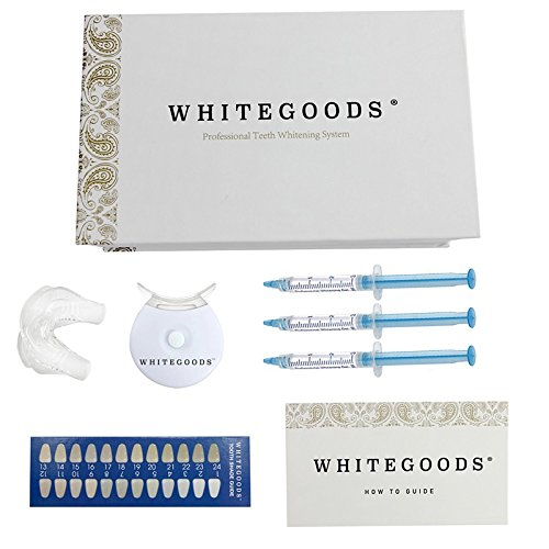 Opulence 9 Light (WHITEGOODS Teeth Whitening Kit, 10 Mins Express Result, Stain Remover Non Sensitive, 9 Treatments, Led Accelerator Light, 18% Carbamide Peroxide 3ml Pro Gel, Tray)