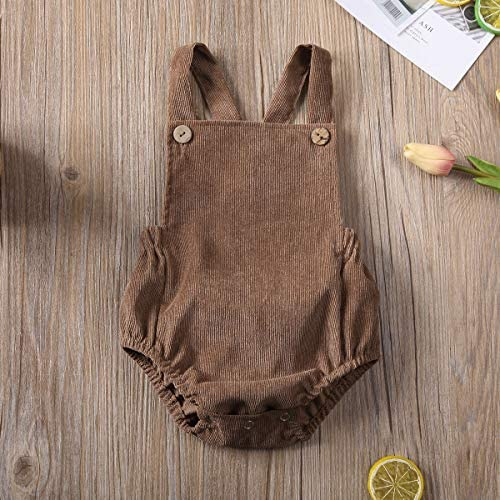 51q2RtaQbWL. AC - Moore-Direct Infant Newborn Baby Girl Corduroy Bandage Solid Color Bodysuit Romper Playsuit Clothes