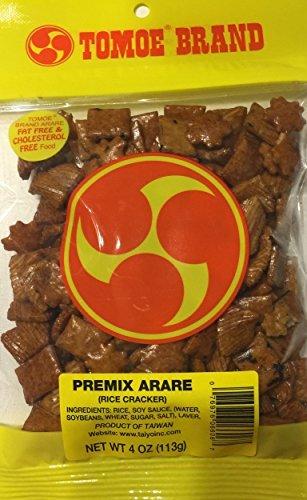 Tomoe Brand Premix Arare Rice Crackers Hawaii Snacks 2 Bags 4 Ounces Each