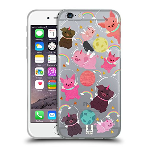 - Head Case Designs Pig Space Unicorns Soft Gel Case for iPhone 6 / iPhone 6s