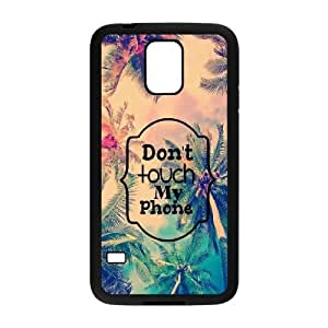 Diy Don't touch my phone Phone Case, DIY Hard Back Cover Case for SamSung Galaxy S5 I9600 Don't touch my phone