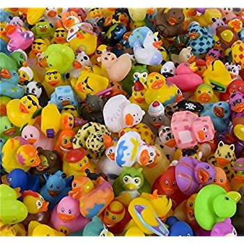 """500pc 2/"""" Rubber Ducky Favor Party Gift Bag Fillers Prize Prizes Assortment"""