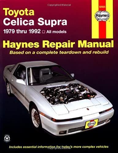 toyota celica supra 1979 1992 haynes manuals john haynes mike rh amazon com