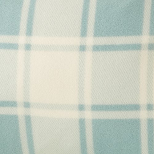 Great Bay Home Super Soft Extra Plush Plaid Polar Fleece Sheet Set. Cozy, Warm, Durable, Smooth, Breathable Winter Sheets with Plaid Pattern. Dara Collection By Brand. (Queen, Harbor Blue) by Great Bay Home (Image #5)