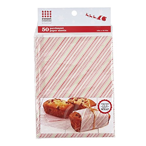 Sweet Creations Stripe Parchment Paper, 50-Piece, 12 x 10.75-Inch ()