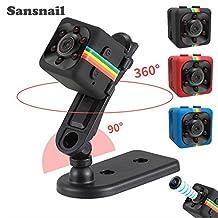 2017 New Original Mini Camera SQ11 HD Camcorder SQ8 SQ9 upgrade Night Vision Mini Camera 1080P Sports Mini DV Voice Video Recorder(Black)
