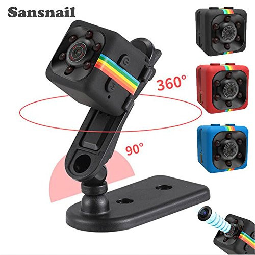 Sansnail 2017 New Original Mini Camera SQ11 HD Camcorder SQ8 SQ9 upgrade Night Vision Mini Camera 1080P Sports Mini DV Voice Video (Mini Spy Camcorder)