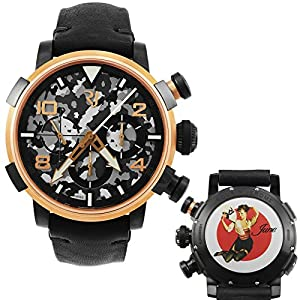 Romain Jerome Pinup DNA Red Gold WWII June Fan Chronograph Automatic Men's Watch RJ.P.CH.003.01