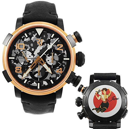 Romain-Jerome-Pinup-DNA-Red-Gold-WWII-June-Fan-Chronograph-Automatic-Mens-Watch-RJPCH00301