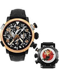 Pinup DNA Red Gold WWII June Fan Chronograph Automatic Mens Watch RJ.P.CH