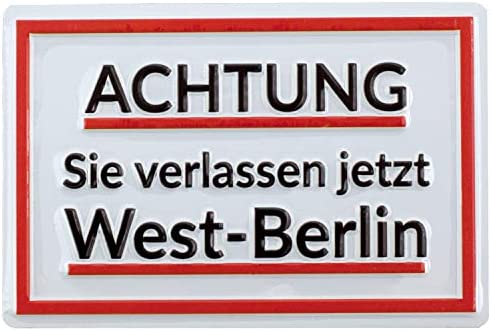 PS&P Advertencia Que Confiar Ahora West de Berlin | Cartel ...