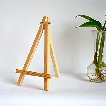 Card Holder Decorative Display Onwon 12 Pcs 5 Inch Mini Wood Display Easel Natural Wood Painting 5 // 12.7cm Drawing Photos
