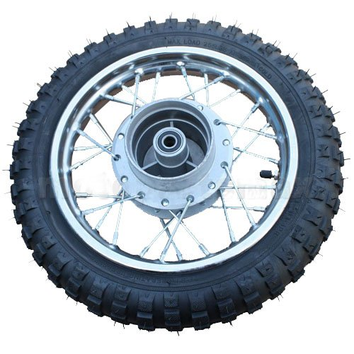 "10"" Rear Wheel Assembly for 50 cc 70cc 90 cc 110cc Dirt Bikes Pit Bike SSR Coolster Roketa"