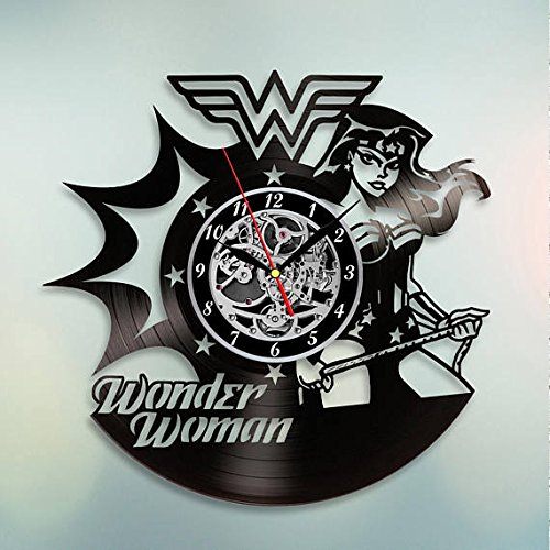 Wonder Woman Unique Wall Clock for bedroom, bathroom, kitchen, livingroom – gift idea for birthday, wedding, Mother's Day, Valentine's Day Mother's Day Valentine's Day
