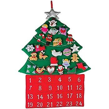 Amazon.com: Melissa & Doug Countdown to Christmas Wooden Advent ...