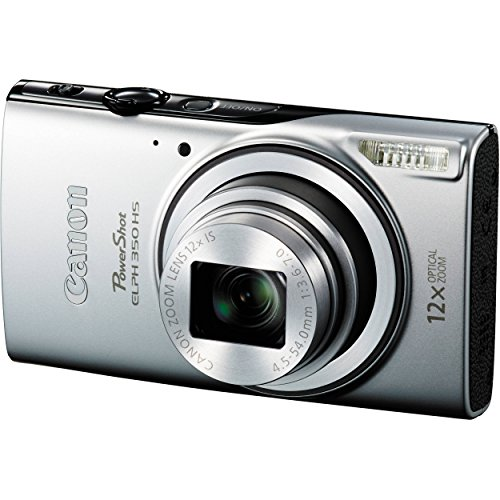 Canon Powershot ELPH 350 HS (Silver) and 32GB Deluxe Accessory Bundle