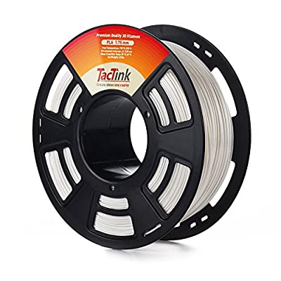 PLA 3D Printing Filament 1.75mm 2.2LBS Spool, Dimensional Accuracy of +/- 0.05mm White