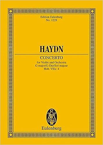 Violin Concerto 2 in G Major, Hob. 7a:4: Study Score