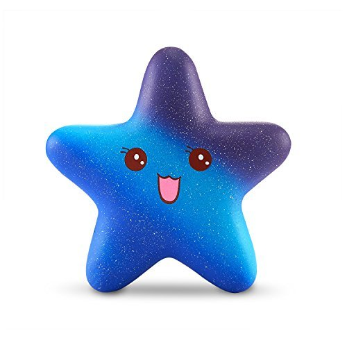 (BESTTY Colorful Squishy Super Jumbo Squishies Star toy Scented Slow Rising Rare Fun Colorful Slow Rising Toy decorative props Large or Stress Relief ...)