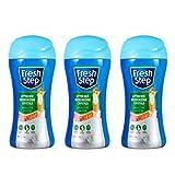 Fresh Step Cat Litter Crystals in Summer Breeze | Cat Litter Box Deodorizer, 15 Ounces - 3 Pack