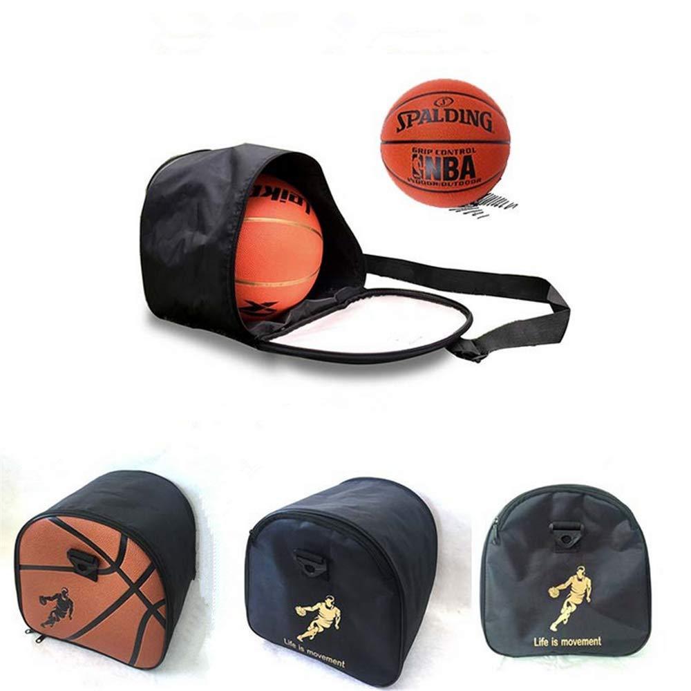 LANDOR Basketball Bag, PU Basketball Storage Bag Men's Sports Bag Outdoor Sports High-Grade Leather Basketball Soccer Ball Football Storage Bag Adjustable Shoulder Strap by LANDOR