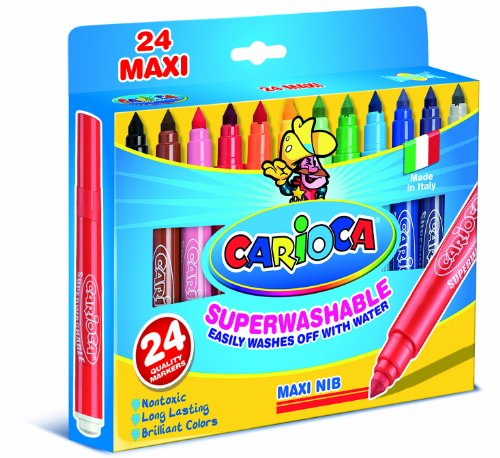 Carioca Maxi-Point Superwashable Markers (Set of 24 Markers)