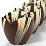 Marbled Chocolate Tulip Cup - 3 Inch - 1 box - 30 count