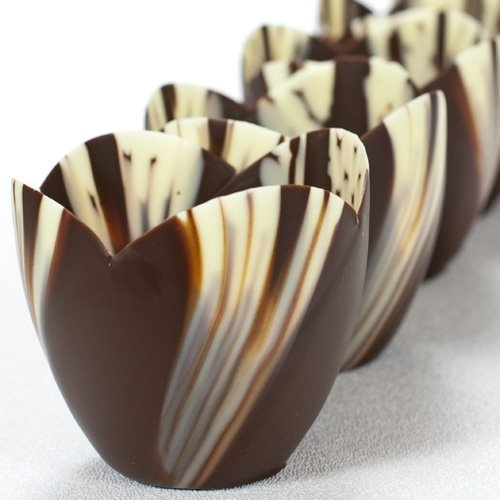 Marbled Chocolate Tulip Cup - 3 Inch - 1 box - 30 count by Pastry